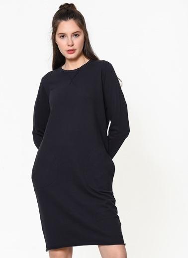 Braez Uzun Kollu Elbise Lacivert